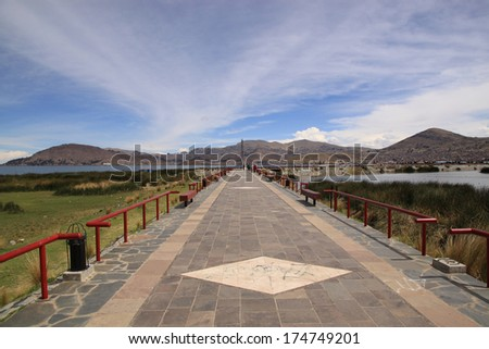 Lake Titicaca waterfront, Puno, Peru, South America - stock photo