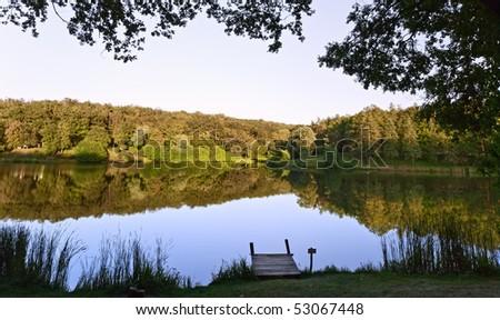 Lake tranquility - stock photo