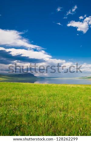 lake Uchum - stock photo