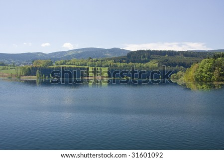 lake uhlava in Czechia