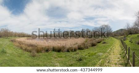 Lake Urio Quattrocchi, Park of the Nebrodi - Sicily - stock photo