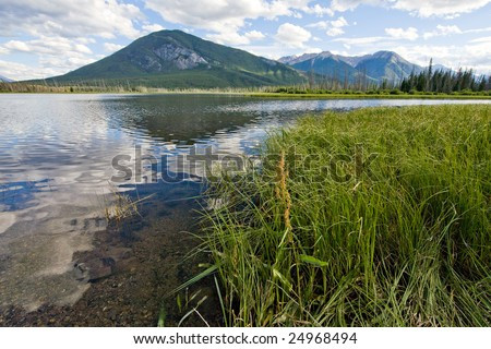 Lake Vermillion, Alberta, Canada - stock photo