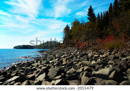 Lake view from Lake Superior North Shore. More with keyword group15