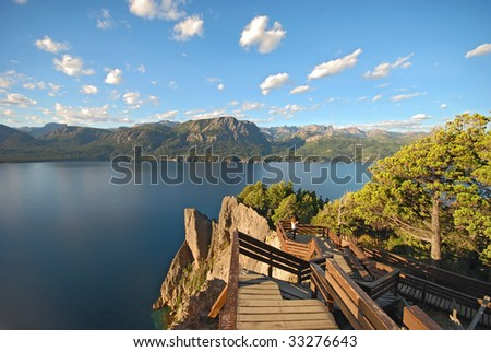 lake view in argentina - stock photo
