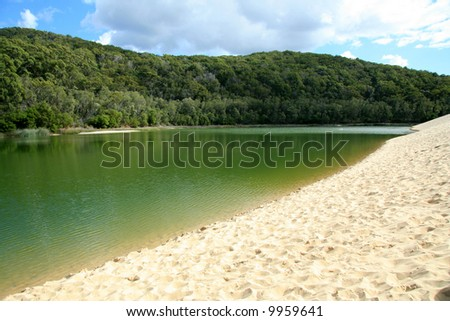 Lake Wabby - Fraser Island, UNESCO, Australia - stock photo