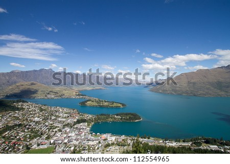 Lake Wakatipu in Queenstown, Newzealand