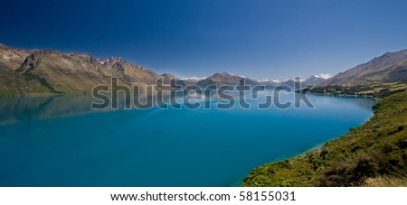 Lake Wakatipu just outside of Queenstown, New Zealand