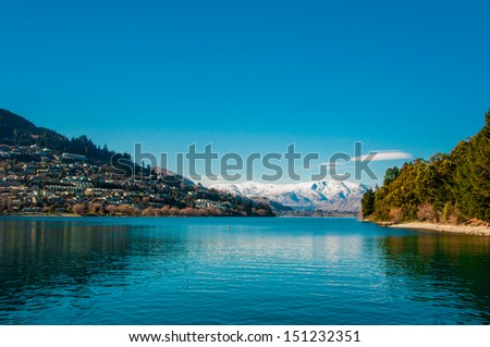Lake Wakatipu - Queenstown - South Island - New Zealand - stock photo