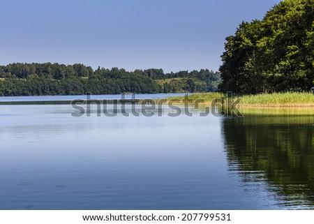 Lake Wigry National Park. Poland  - stock photo