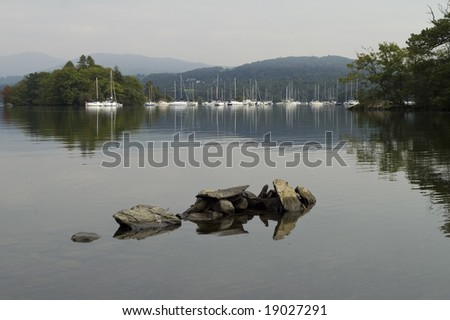 Lake Windermere in Lake District National Park - stock photo