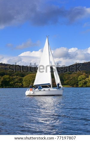Lake Windermere in Lake District National Park Cumbria England - stock photo