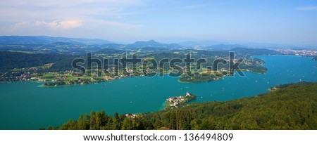 Lake Woerthersee at Carinthia, Austria - stock photo