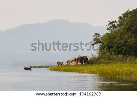 Lake Yojoa, Honduras, Central America - stock photo