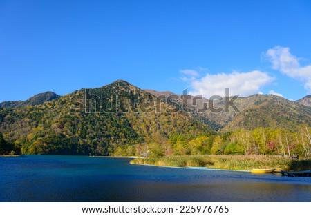 Lake Yunoko in Autumn, in Nikko, Japan - stock photo