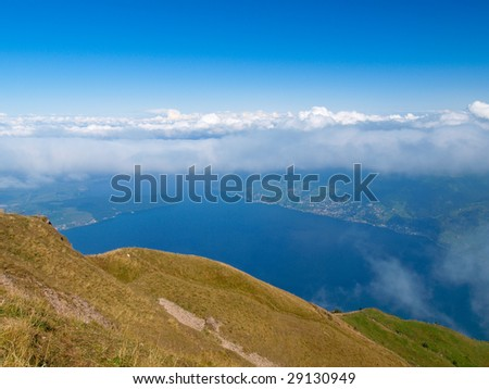 Lake Zug from the mount  Rigi