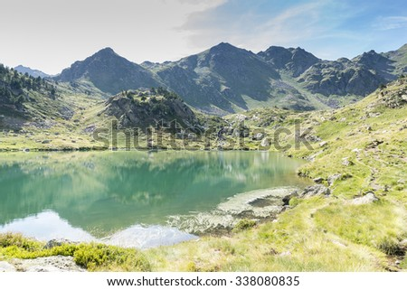 lakes of Tristaina in Andorra La Vella