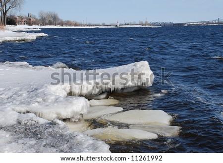 Lakeshore in Lachine, Montreal - stock photo