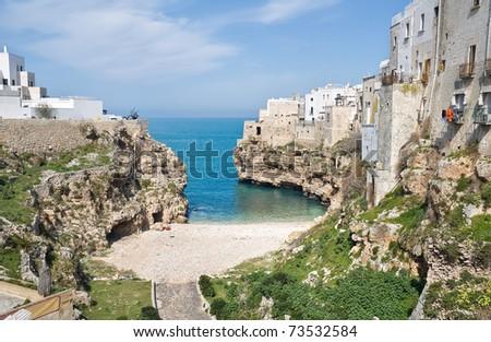 Lama Monachile. Polignano a Mare. Apulia. - stock photo