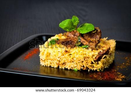 Lamb Biryani - stock photo