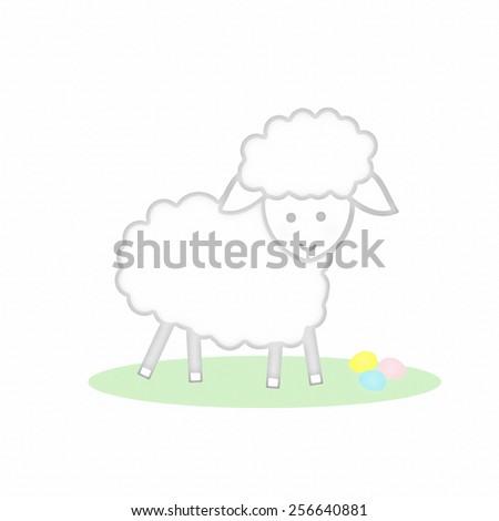 Lamb - Easter - stock photo