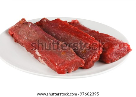 lamb on a white plate