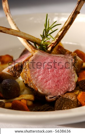 Lamb Roasted - stock photo
