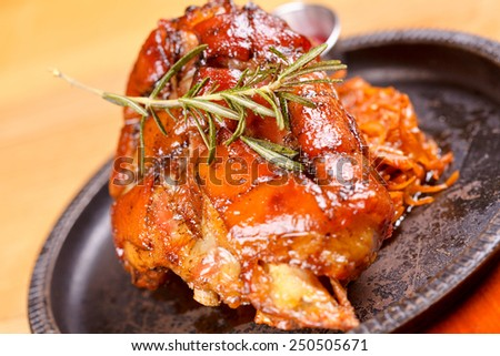 Lamb shank - stock photo