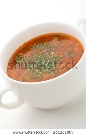 Lamb Soup with Vegetables and Herbs