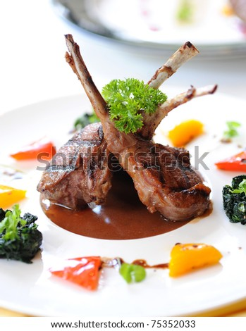 lamb steak - stock photo