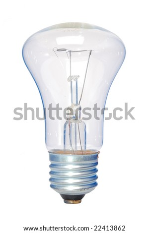lamp bulb on a white