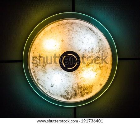 lamp circle old - stock photo