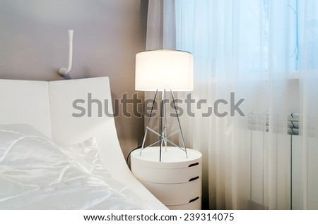 Lamp in modern interior. - stock photo