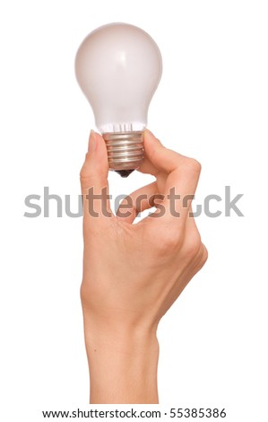 lamp in the woman's hand as a symbol of light