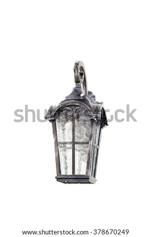 Lamp isolated background, Selective Focus. - stock photo