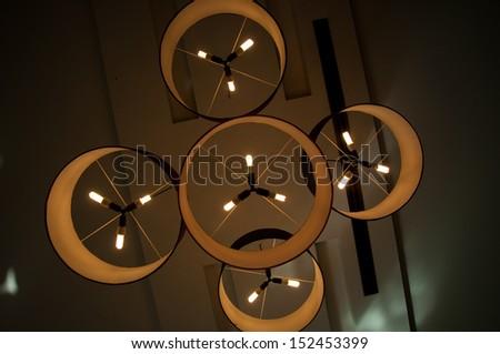 lamp Modern light fixture - stock photo