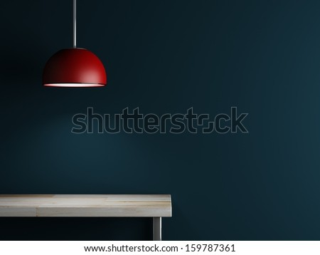 Lamp of interior decoration and table 3d rendering  - stock photo