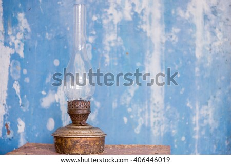 lamp oil old aged vintage rust dirty - stock photo