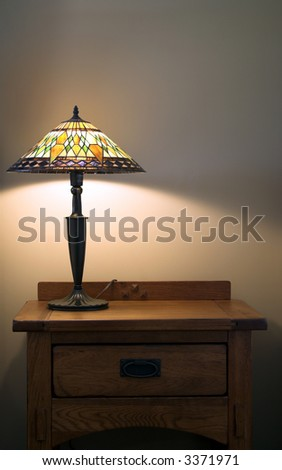 Lamp on table - stock photo