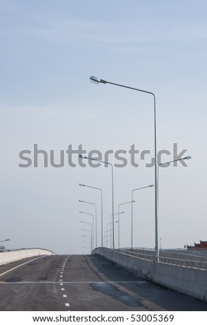 lamp on the road - stock photo