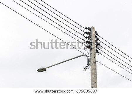 Lamp Post Electric Pole Connect High Stock Photo (Edit Now ...