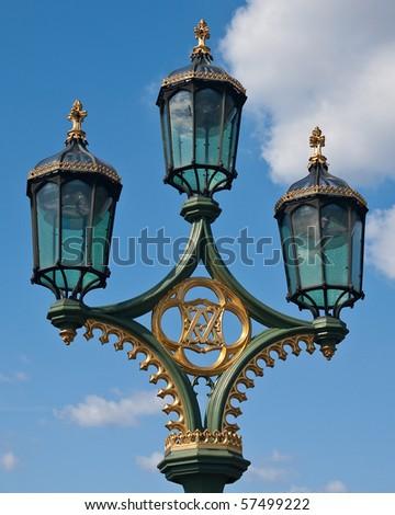 Lamp post in London - stock photo