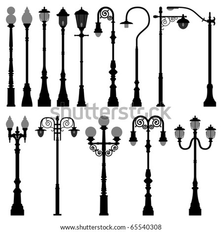 Lamp Post Lamppost Street Road Light Pole - stock photo