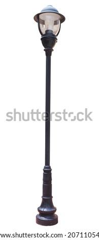 Lamp Post Street Road Light Pole - stock photo