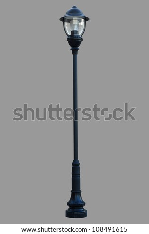 Lamp Post Street Road Light Pole isolated - stock photo