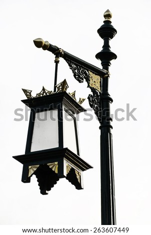 Lamp Post Street Road Light Pole, Isolated - stock photo