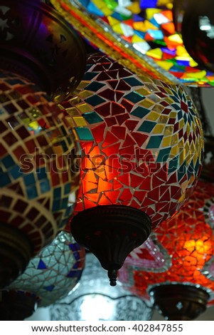 Lamp shop in Turkey
