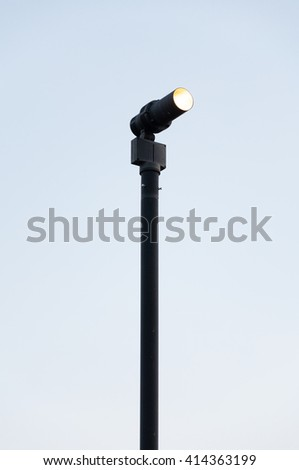 lamp street, electricity industry - stock photo