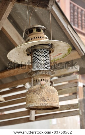 Lamp Vintage Hang Old Style - stock photo