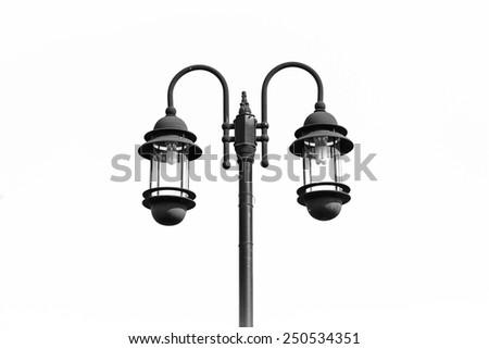 Lamp white background - stock photo