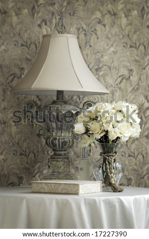 Lamp with Flowers